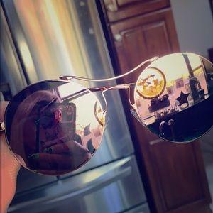 AJ Morgan rose gold and pink glasses